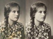 Restoration of old photographs - 3 images.